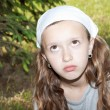 Stock Photo: Girl looking sad