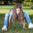 Girl on grass — Stock Photo #12147896