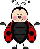 Neşeli uğur böceği — Stok Vektör