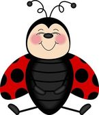 Ladybug Smiling From Ear to Ear — Vector de stock