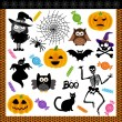 Stock Vector: Halloween night trick or treat digital collage