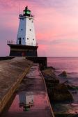 Lighthouse at Sundown — Stock Photo