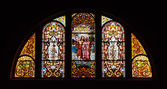 Stained Glass Chruch Window — Stock Photo