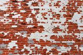 Grungy Brick Wall with Peeling Paint — Stock Photo