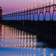 South Haven Lighthouse after Sundown — Stock Photo #11751844
