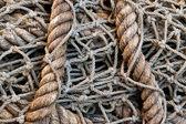 Rustic Rope Fish Net — Stock Photo
