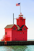 Holland Big Red Lighthouse — Stock Photo