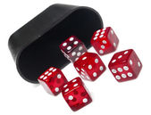 Roll of the dice on white — Stock Photo