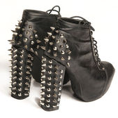Trendy fashionable stud spike shoes — Stok fotoğraf