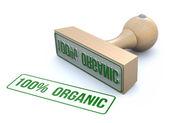 Ruber stamp-100% organic — Foto de Stock