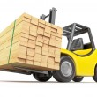 Forklift with stacked lumber — Stock Photo #11908990