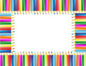 铅笔的帧 — 图库矢量图片