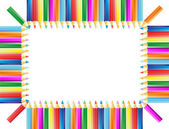 The frame from pencils — Stock Vector