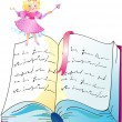 The princess with book - Stock Vector
