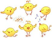 The funny chickens — Wektor stockowy