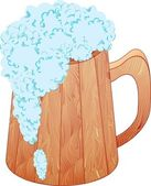 The mug of beer — Stock Vector