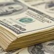 Closeup pack of dollars — Stock Photo