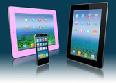 Two stylized tablet pc and mobile phone — Stock Photo
