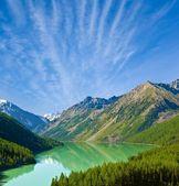 绿湖山 — 图库照片