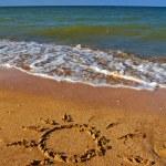 Sun on a sand — Stock Photo