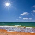 cena de mar quente de verão — Foto Stock