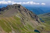 Green caucasus mountain valley — Foto de Stock