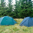 Stock Photo: Touristic camp in forest