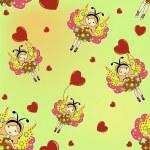 The sample of children's wallpaper — Stock Vector