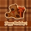 Holiday greeting card on his birthday — Imagen vectorial