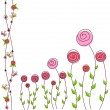 Floral background of roses — Imagen vectorial