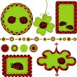 Digital vector scrapbook with ladybug — Stok Vektör #11820388