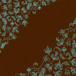 Beautiful patterns on a brown background — Stockvectorbeeld