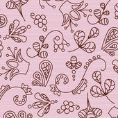 Beautiful patterns on a pink background — Stock Vector