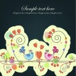 Sample cards with birds and flowers — 图库矢量图片 #11869083