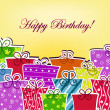 Colorful postcard with birthday — Stock Vector #11870541