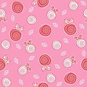 样本纹理与鲜花 — 图库矢量图片