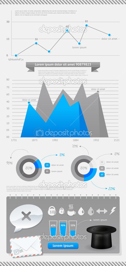 Set of vector elements infographics and icons  Stock Vector #11109392