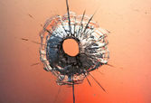 Bullet hole — Stock Photo