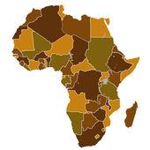 Africa map — Wektor stockowy