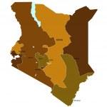 Kenya map — Stock Vector #11998668