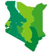 Kenya map — Stock Vector