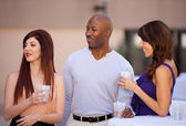 Friends Socializing Multi Racial Group — Stock Photo