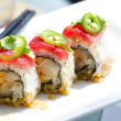 Sushi Tuna and yellowtail Roll — Stock Photo