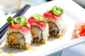 Sushi Tuna and yellowtail Roll — Foto de Stock