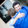 Royalty-Free Stock Photo: Graduate and Dad