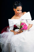 Beautiful African American Bride — Stock Photo