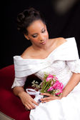 Beautiful Bride with an up do hair style — Stock Photo