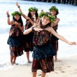 Pretty Polynesian Girls — Stock Photo