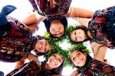 Girls connected with Aloha Spirit — Stock Photo