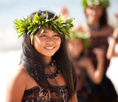 Pretty Polynesian Girl — Stock Photo